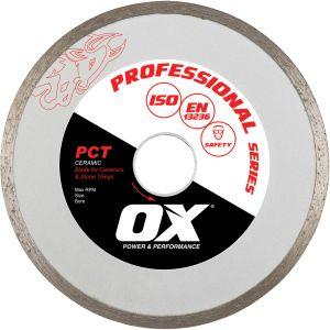 Image for OX Professional PCT Continuous Rim Diamond Blade - Ceramics